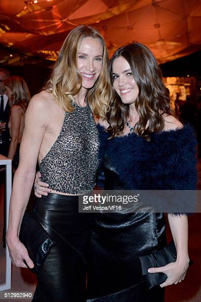 Actresses Kelly Lynch and Shane Lynch attend the 2016 Vanity Fair Oscar Party Hosted By Graydon Carter at the Wallis Annenberg Center for the...