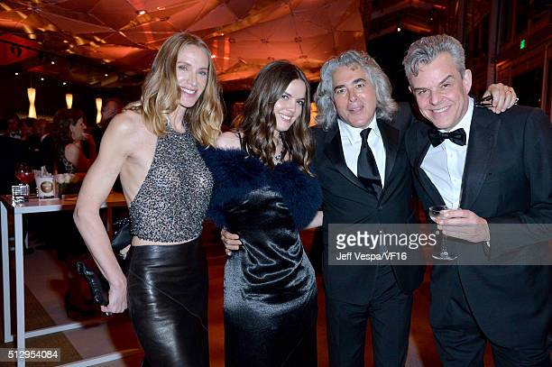 Actresses Kelly Lynch Shane Lynch writer/producer Mitch Glazer and actor Danny Huston attend the 2016 Vanity Fair Oscar Party Hosted By Graydon...