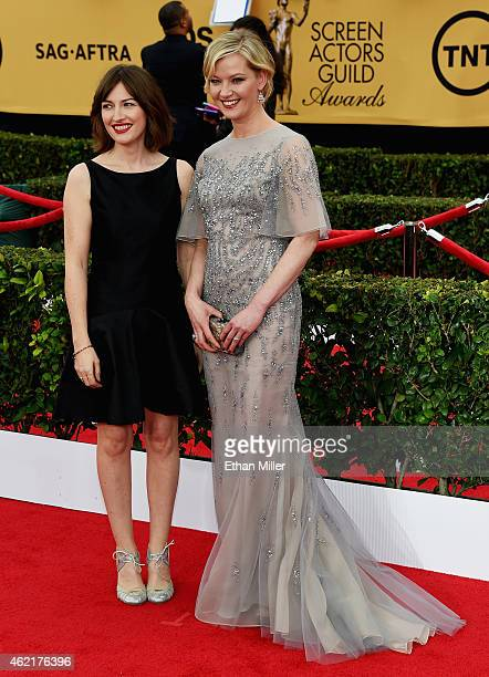 Actresses Kelly Macdonald and Gretchen Mol attend the 21st Annual Screen Actors Guild Awards at The Shrine Auditorium on January 25 2015 in Los...