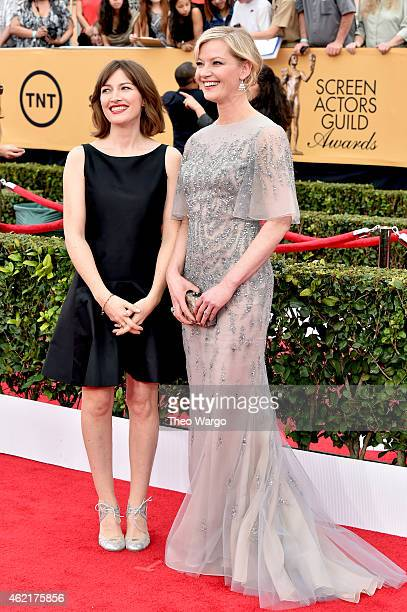 Actresses Kelly Macdonald and Gretchen Mol attend TNT's 21st Annual Screen Actors Guild Awards at The Shrine Auditorium on January 25 2015 in Los...