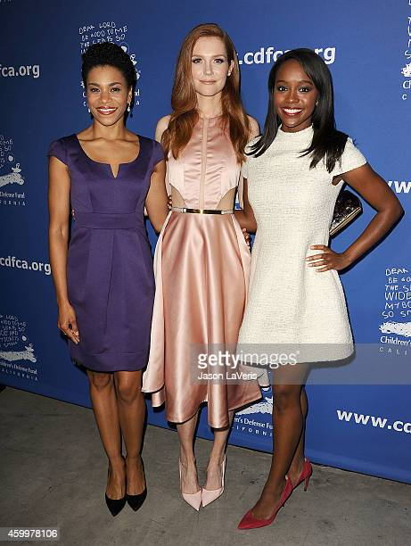 Actresses Kelly McCreary Darby Stanchfield and Aja Naomi King attend Children's Defense Fund's 24th annual Beat The Odds Awards at The Book Bindery...
