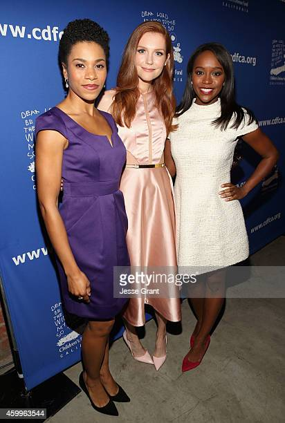 Actresses Kelly McCreary Darby Stanchfieldand Aja Naomi King attend Children's Defense Fund California Hosts 24th Annual Beat The Odds Awards at Book...