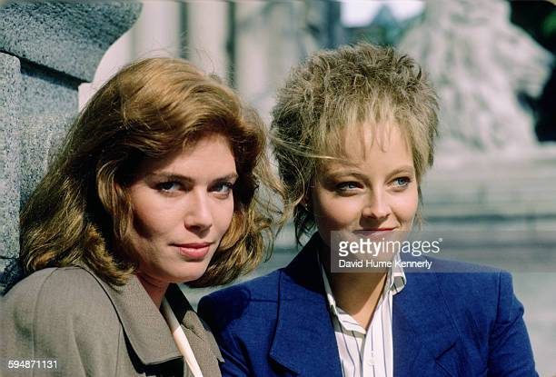 """Actresses Kelly McGillis and Jodie Foster pose for a photo in June 1987 in Vancouver, Canada. McGillis and Foster are promoting the movie, """"The..."""
