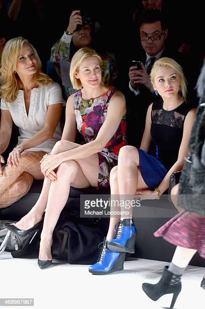 Actresses Kelly Rutherford and Peyton List attend the Nanette Lepore fashion show during MercedesBenz Fashion Week Fall 2014 at The Salon at Lincoln...
