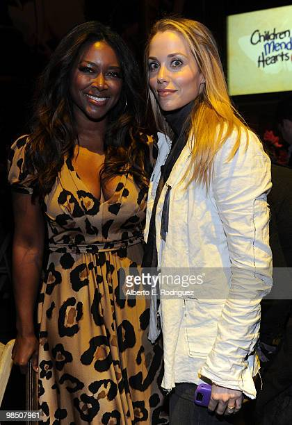 Actresses Kenya Moore and Elizabeth Berkley attend the Children Mending Hearts 3rd Annual 'Peace Please' Gala held at The Music Box at the Fonda...