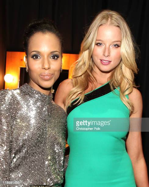 Actresses Kerry Washington and Rachel Nichols attend The 2011 ESPY Awards at Nokia Theatre LA Live on July 13 2011 in Los Angeles California