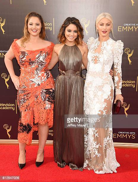 Actresses Kether Donohue Vanessa Hudgens and Julianne Hough attend the 2016 Creative Arts Emmy Awards held at Microsoft Theater on September 11 2016...