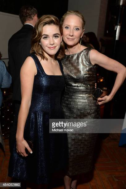 Actresses Kiernan Shipka and Anne Heche attend Variety and Women in Film Emmy Nominee Celebration powered by Samsung Galaxy on August 23 2014 in West...