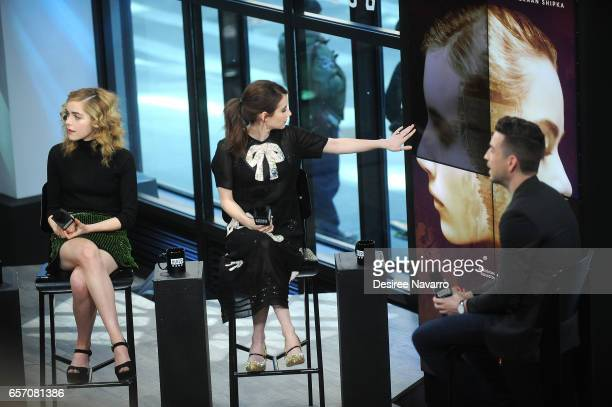 Actresses Kiernan Shipka and Emma Roberts attend Build Series to discuss 'The Blackcoat's Daughter' at Build Studio on March 23 2017 in New York City