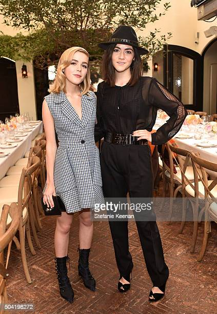 Actresses Kiernan Shipka and Isabelle Fuhrman attend W Magazine's It Girl luncheon in partnership with Coach and Moet Chandon at AOC on January 9...