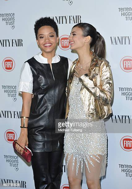 Actresses Kiersey Clemons and Victoria Justice attend the Vanity Fair And Fiat Toast To Young Hollywood in support of the Terrence Higgins Trust at...