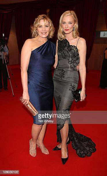 Actresses Kim Cattrall and Joely Richardson attend the Irish Film and Television Awards at Dublin Convention Centre on February 12 2011 in Dublin...