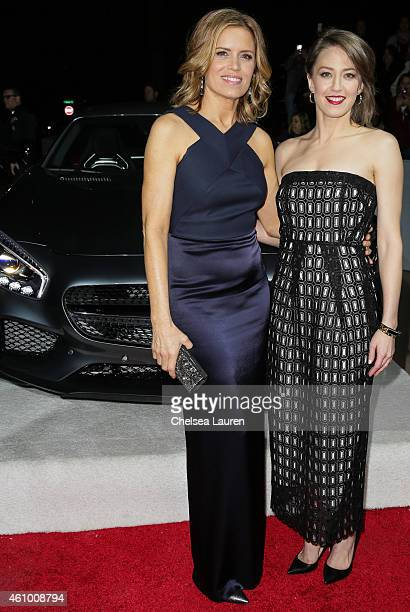 Actresses Kim Dickens and Carrie Coon arrive with MercedesBenz at the 26th annual Palm Springs International Film Festival Awards Gala on January 3...