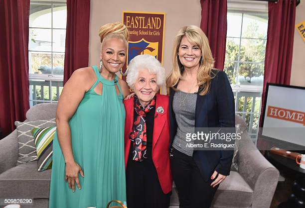 Actresses Kim Fields Charlotte Rae and Lisa Whelchel attend Hallmark's Home and Family Facts Of Life Reunion at Universal Studios Backlot on February...