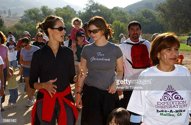 Actresses Kim Raver and Jeanne Tripplehorn help lead a group of hikers at the 8th Annual Expedition Inspiration TakeAHike at Paramount Ranch in the...