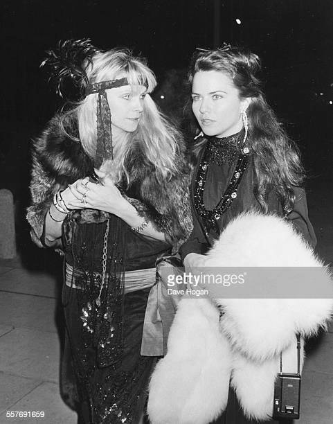 Actresses Koo Stark and Bea Nash attending a private party in London February 17th 1984