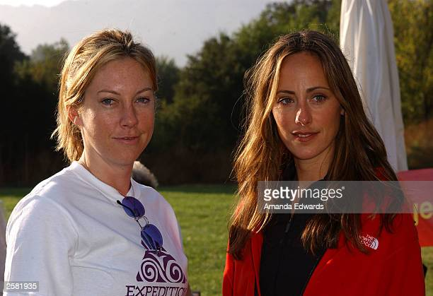Actresses Kris Murphy and Kim Raver pose at the 8th Annual Expedition Inspiration TakeAHike at Paramount Ranch in the Santa Monica Mountains National...