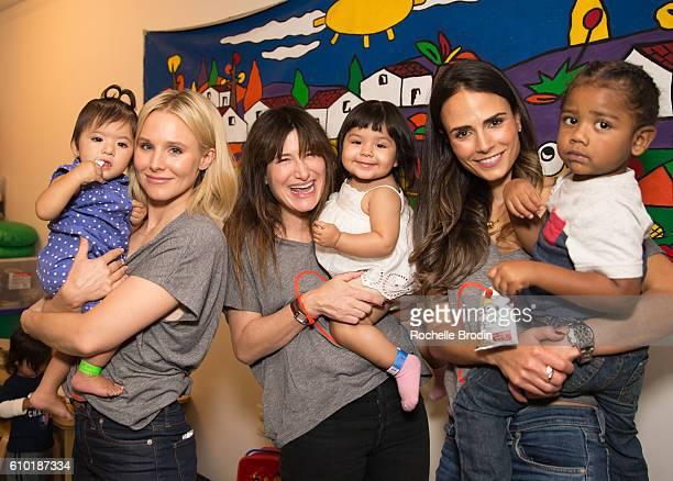 Actresses Kristen Bell Kathryn Hahn and Jordana Brewster arrive at the Alliance Of Moms Raising Baby event at the Children's Institute on September...