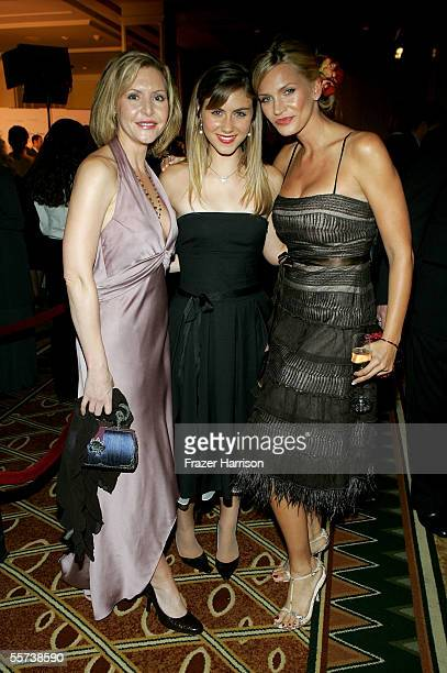Actresses Kristen Shaw Caitlin Wachs and Natasha Henstridge attend the inaugural ball and premiere of ABC's CommanderinChief after party held at The...