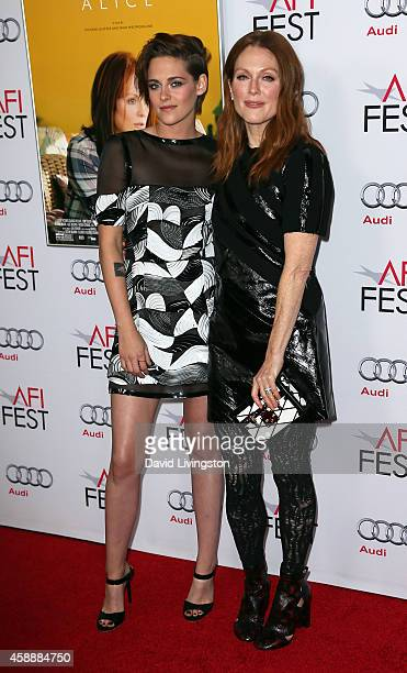 Actresses Kristen Stewart and Julianne Moore attend the AFI FEST 2014 presented by Audi special screening of 'Still Alice' at the Dolby Theatre on...