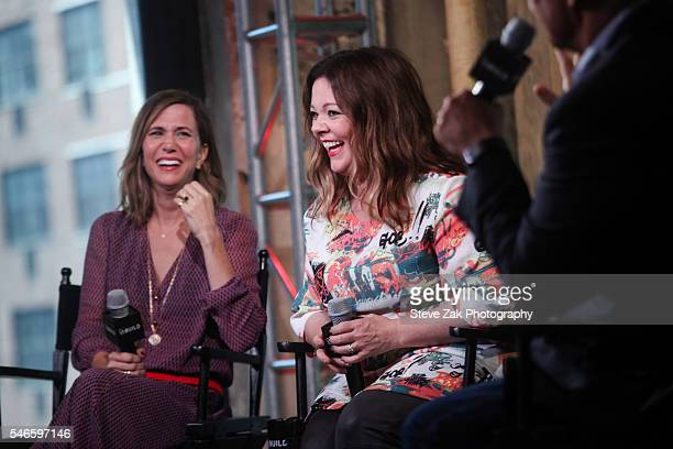 """Actresses Kristen Wiig and Melissa McCarthy attend AOL Build Speaker Series: """"Ghostbusters"""" at AOL HQ on July 12, 2016 in New York City."""