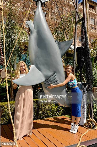 Actresses Kristin Cavallari and Orly Shani attend NBCUniversal's Summer Press Day at Langham Hotel on April 8 2014 in Pasadena California