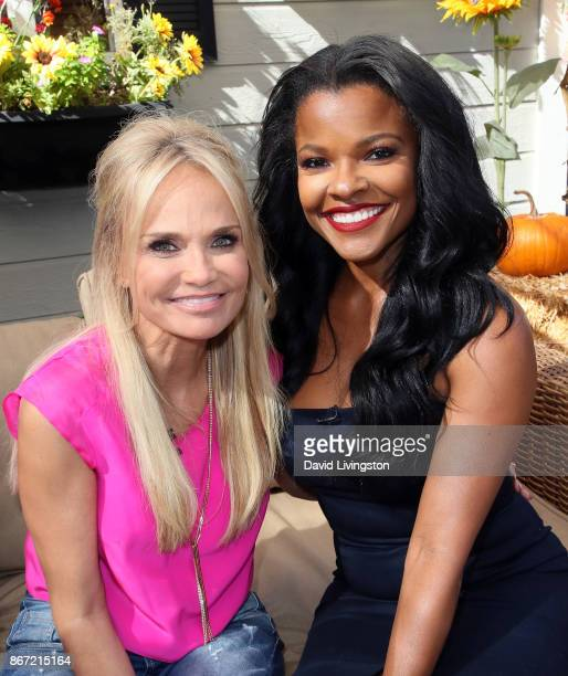 Actresses Kristin Chenoweth and Keesha Sharp visit Hallmark's Home Family at Universal Studios Hollywood on October 27 2017 in Universal City...