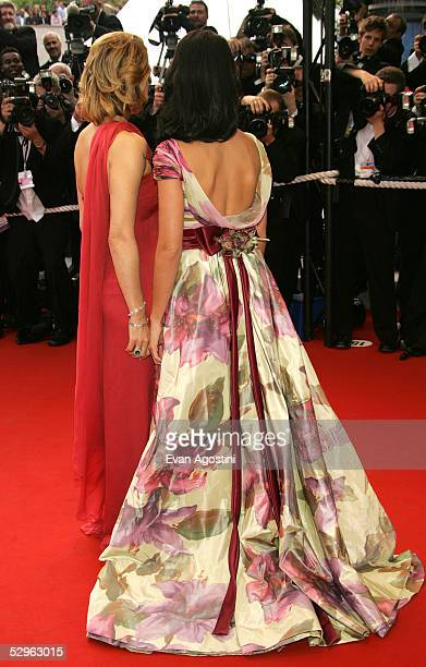 Actresses Kristin Scott Thomas and Penelope Cruz attend the Closing Ceremony and premiere of Chromophobia at the Palais during the 58th International...
