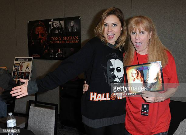 Actresses Kristina Klebe and PJ Soles attend the 2016 Days Of The Dead Convention held at Burbank Airport Marriott on April 2 2016 in Burbank...