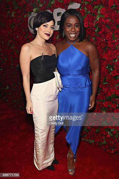 Actresses Krysta Rodriguez and Uzo Aduba attend the 70th Annual Tony Awards at The Beacon Theatre on June 12 2016 in New York City