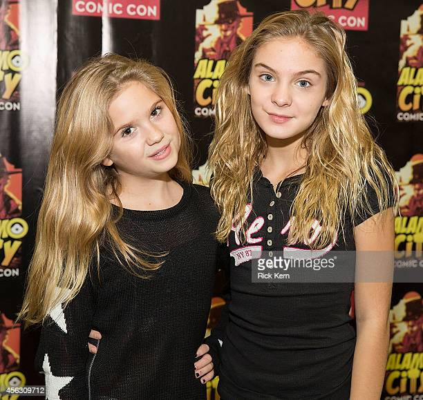 Actresses Kyla Kennedy and Brighton Sharbino attend day three of the Alamo City Comic Con at the Henry B Gonzalez Convention Center on September 28...