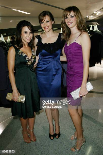 Actresses Lacey Chabert Vinessa Shaw and Danielle Panabaker attend the Alberta Ferretti flagship store opening hosted by Vogue on November 12 2008 in...