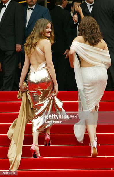Actresses Laetitia Casta and Aishwarya Rai attend the 57th Cannes Film Festival Opening Ceremony and screening of the film 'La Mala Educacion' at the...