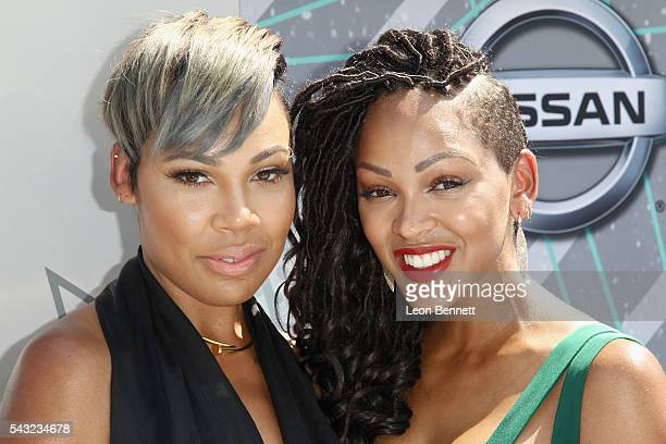 Actresses La'Myia Good and Meagan Good attend the Make A Wish VIP Experience at the 2016 BET Awards on June 26 2016 in Los Angeles California