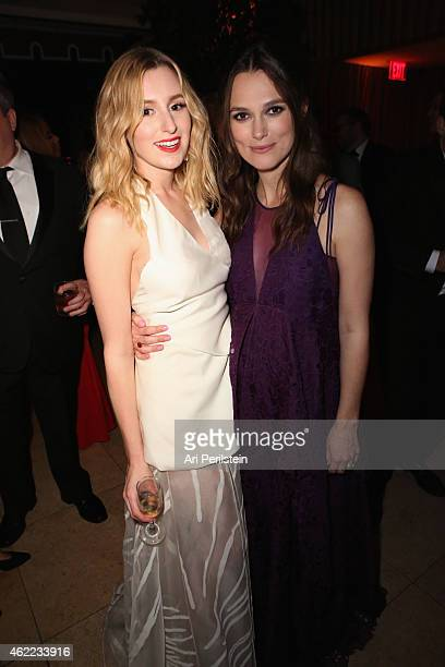 Actresses Laura Carmichael and Keira Knightley attend The Weinstein Company & Netflix's 2015 SAG After Party In Partnership With Laura Mercier at...