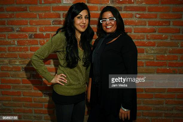 Actresses laura de Ita and Catalina Lopez pose during a press conference to present the movie 'Fecha de Caducidad' at the Sala Luis Bunuel of the...