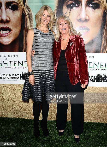 Actresses Laura Dern and Diane Ladd attend the premiere of HBO's Enlightened at Paramount Theater on the Paramount Studios lot on October 6 2011 in...