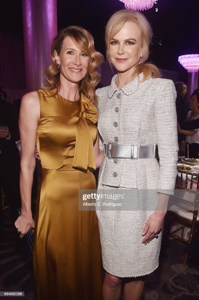 Actresses Laura Dern (L) and Nicole Kidman attend the 89th Annual Academy Awards Nominee Luncheon at The Beverly Hilton Hotel on February 6, 2017 in Beverly Hills, California.