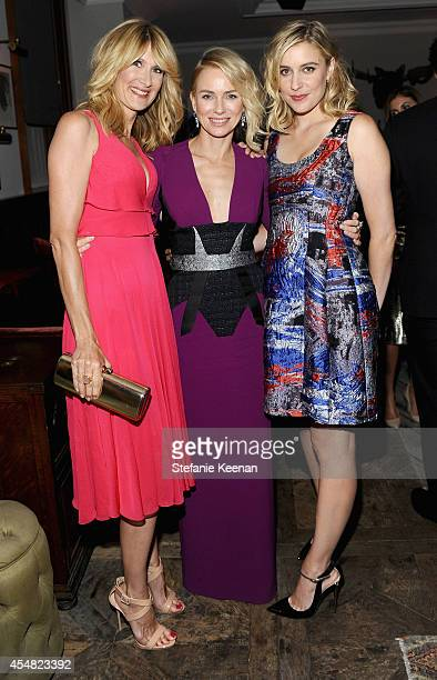 Actresses Laura Dern Naomi Watts and Greta Gerwig at the 'While We're Young' world premiere party hosted by GREY GOOSE vodka and Soho House Toronto...