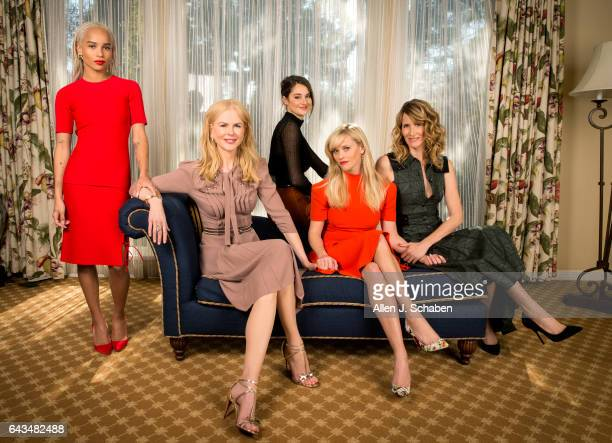 Actresses Laura Dern Nicole Kidman Reese Witherspoon Shailene Woodley and Zoe Kravitz of HBO's TV series 'Big Little Lies' are photographed for Los...