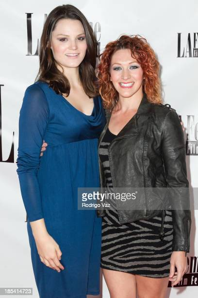 Actresses Laura Harman and Alejandra Cejudo attend the 9th Annual La Femme International Film Festival A Case Of You premiere at Regal Cinemas LA...