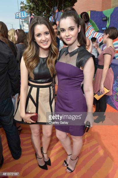 Actresses Laura Marano and Vanessa Marano attend Nickelodeon's 27th Annual Kids' Choice Awards held at USC Galen Center on March 29 2014 in Los...