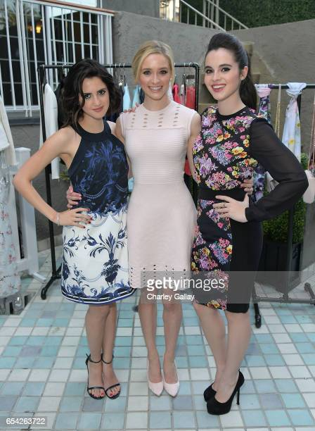 Actresses Laura Marano Greer Grammer and Vanessa Marano attend the Ted Baker London Spring/ Summer 17 Launch Dinner at The Chamberlain on March 16...