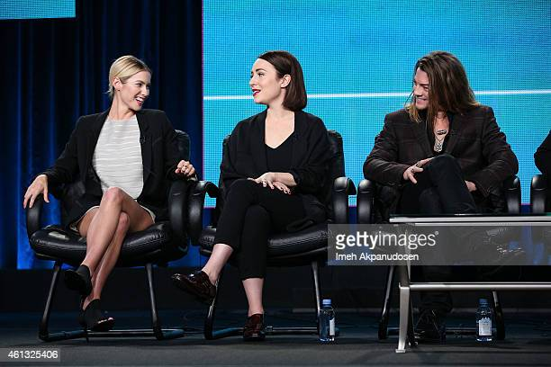 Actresses Laura Ramsey Sarah Goldberg and actor Craig Horner speak onstage during the Viacom Winter Television Critics Association press tour at The...