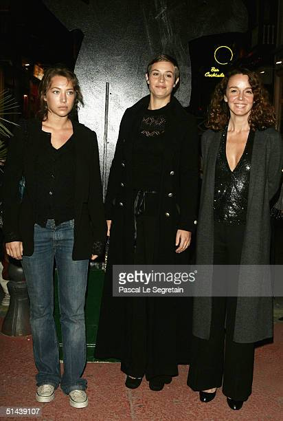 Actresses Laura Smet Cecile De France and Catherine Jacob attend the opening ceremony of the 15th Dinard Festival Of British Film October 7 2004 in...