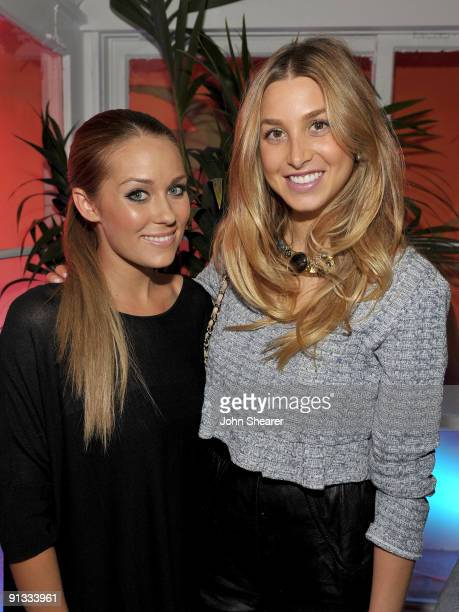 Actresses Lauren Conrad and Whitney Port attend the 'LC Lauren Conrad' with Lauren Conrad Kohl's department stores held at 8432 Melrose Place on...