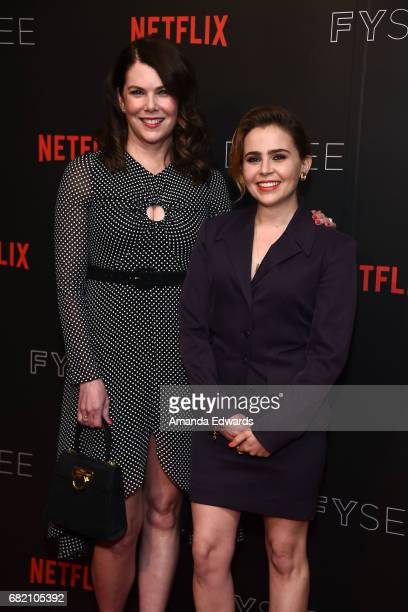 """Actresses Lauren Graham and Mae Whitman arrive at the Netflix """"Gilmore Girls: A Year In The Life"""" For Your Consideration Event at the Netflix FYSee..."""