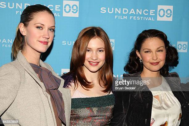 Actresses Lauren Lee Smith Alexia Fast and Ashley Judd attend the screening of 'Helen' held at the Library Center Theatre during the 2009 Sundance...