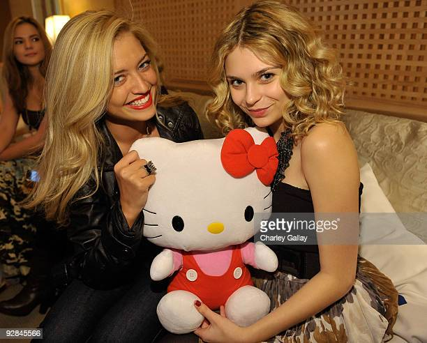 Actresses Lauren Storm and Alexandra Krosney attend the Asics Hello Kitty Lounge at Raffles L'Ermitage Hotel on November 5 2009 in Beverly Hills...