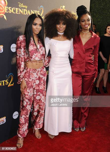 Actresses Lauryn McClain China Anne McClain and Sierra McClain attend the premiere of Descendants 2 at The Cinerama Dome on July 11 2017 in Los...